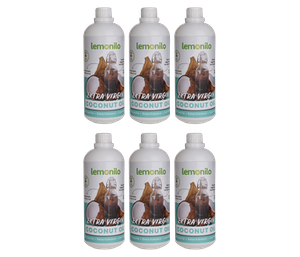 LemoniloBox 100% Organic Extra Virgin Coconut Oil (VCO) 1000 ml (Pack of 6)