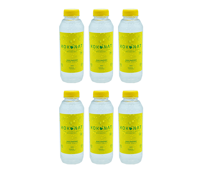 Kokonat Pure Coconut Water with Coco Jelly Pack of 6