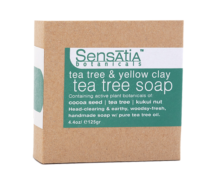 Sensatia Bar Soap Tea Tree & Yellow Clay 125gr