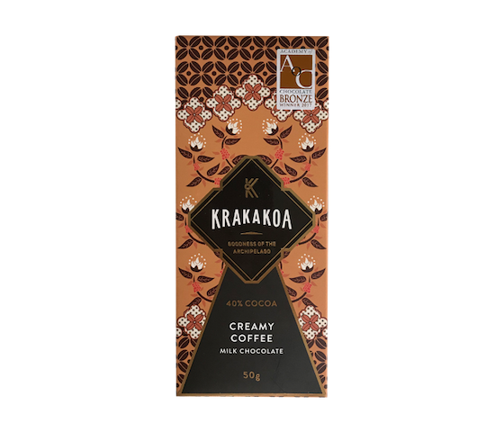 Krakakoa 40% Cocoa Creamy Coffee Milk Chocolate 50 gr