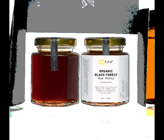 Raw+ Organic Black Forest Honey 135 gr