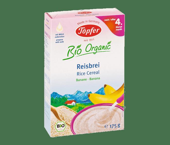 Topfer Bio Organic Sereal Beras & Pisang 4 Bulan +