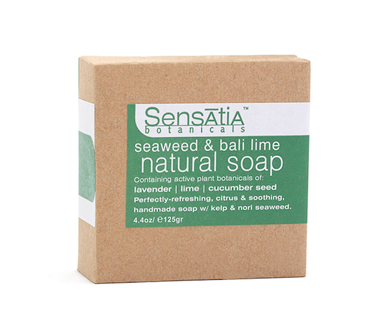 Sensatia Botanicals Seaweed & Bali Lime Natural Soap 125 gr