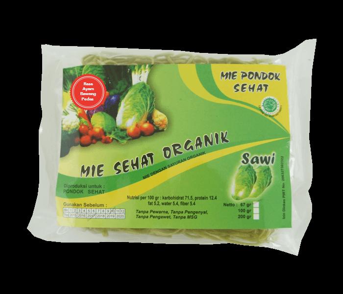 Pondok Sehat Mie Instan Sawi Ayam Bawang Pedas Organik