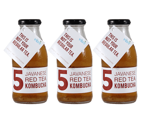 Vibre Javanese Red Tea Kombucha Pack of 3