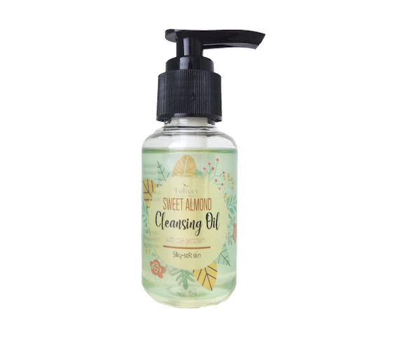 Folives Sweet Almond Cleansing Oil for Silky-Soft Skin 70 ml