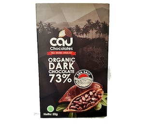 Cau Chocolates Organic Dark Chocolate 73% Sea Salt 50 gr