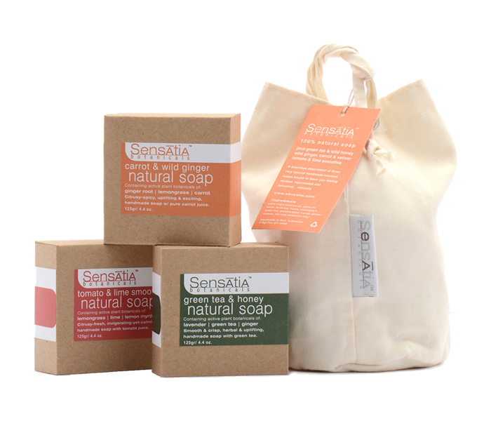 Sensatia Bar Soap Bali Harvest 3 Pieces Gift Pack