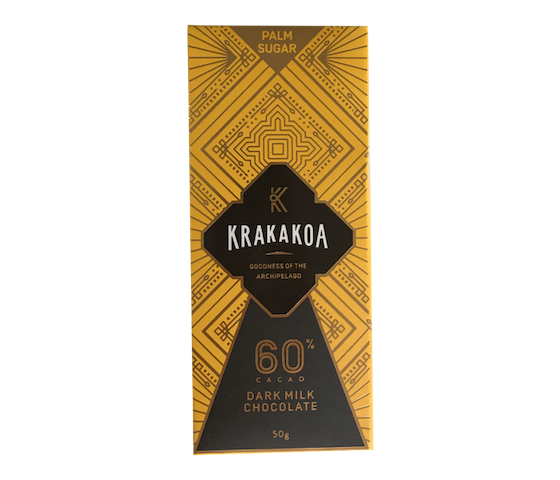 Krakakoa 60% Cacao Dark Milk Chocolate 50 gr