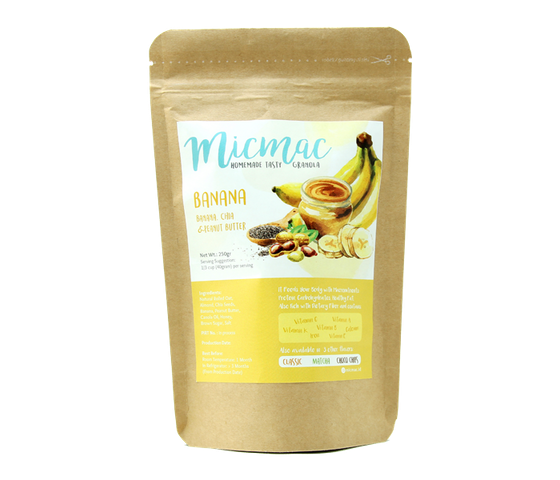 Mic Mac Banana Granola Pack 250 gr