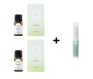[Promo] Buy 2 Eucalie Orange 100% Essential Oil 10 ml Get 1 Free Eucalie Organic Lip Balm