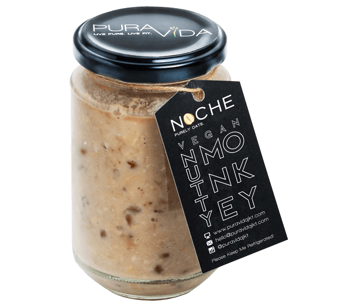 Pura Vida NOCHE Vegan Nutty Monkey Overnight Oats Medium