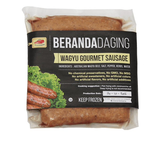 Beranda Daging Wagyu Gourmet Sausage With Italian Herbs