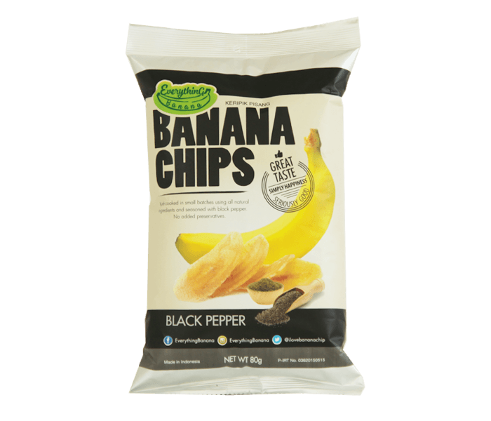 Everything Banana Keripik Pisang Lada Hitam