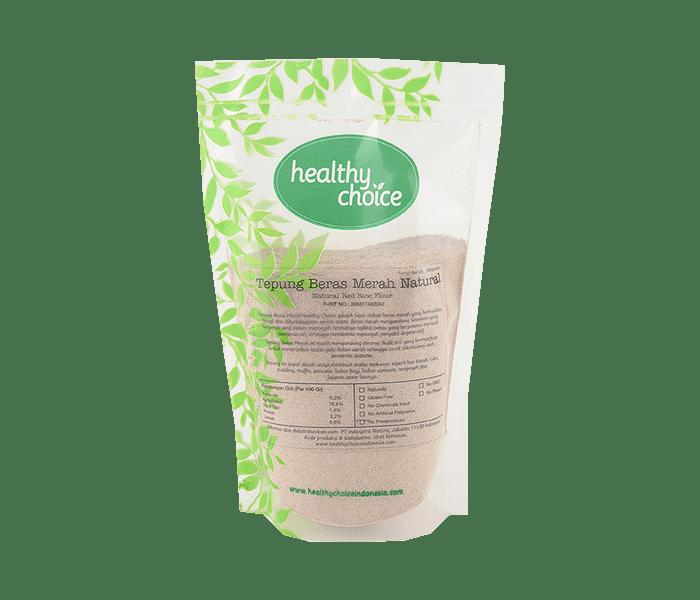 Healthy Choice Tepung Beras Merah Natural 500 gr