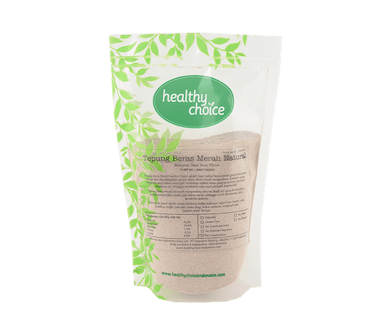 Healthy Choice Tepung Beras Merah Natural 500 gr