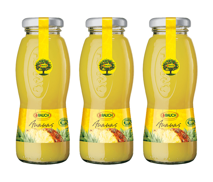 Rauch Pineapple Juice 200 ml (Pack of 3)