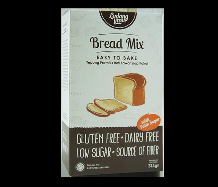 Jual Ladang Lima Tepung Tapioka Bread Mix Bebas Gluten hanya di Lemonilo.com