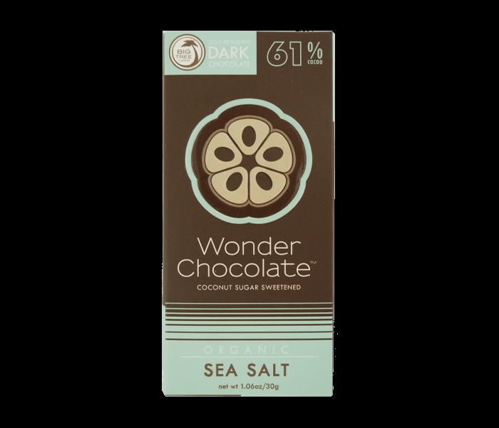 Jual Big Tree Farms Wonder Chocolate 61% Cokelat Organik Garam Laut hanya di Lemonilo.com