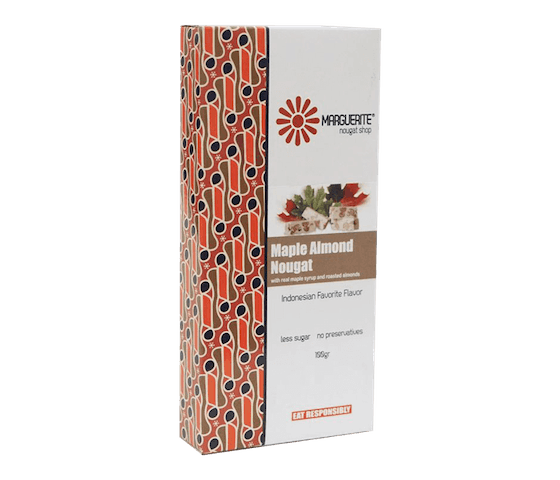 Marguerite Maple Almond Nougat 200 gr