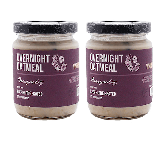 Yourganic Overnight Oatmeal Berryoatsy Pack of 2