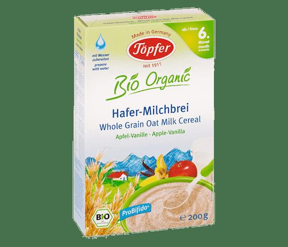 Topfer Bio Organic Sereal Susu Oat Apel Vanila 6 Bulan +