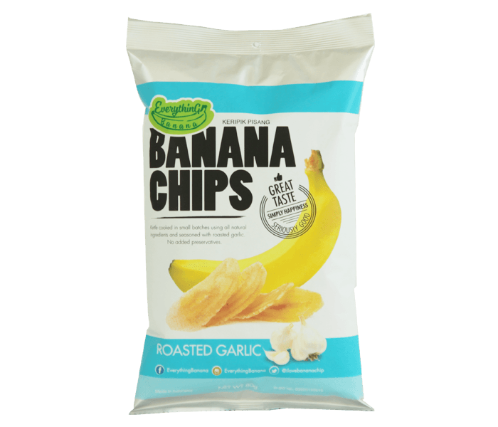Jual Everything Banana Keripik Pisang Bawang Panggang hanya di Lemonilo.com