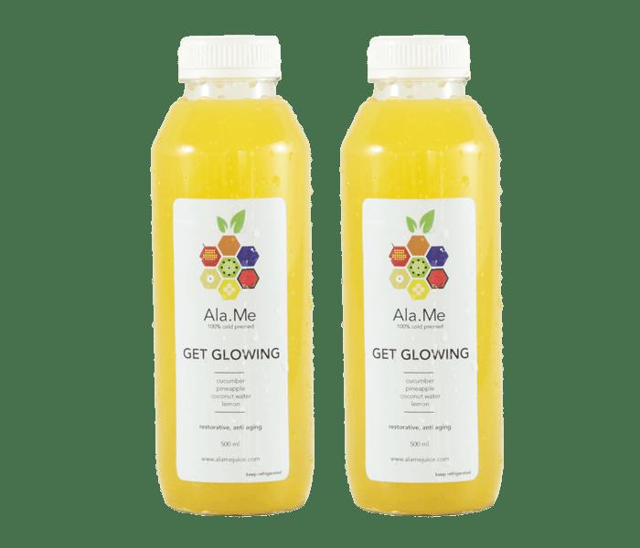 Ala.Me Get Glowing Cold Press Juice Pack of 2 @500ml