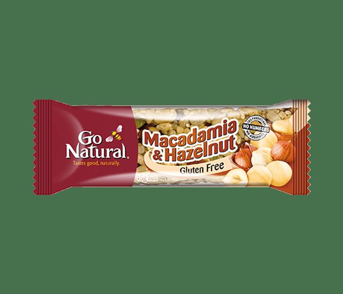 Go Natural Bar Macadamia Hazelnut Bebas Gluten