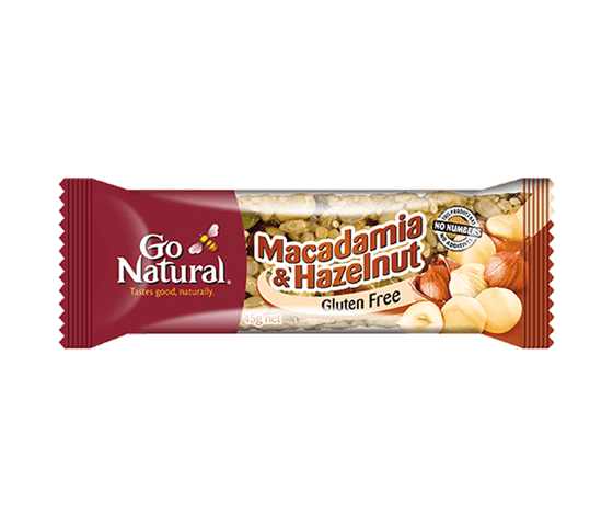 Go Natural Bar Macadamia Hazelnut Bebas Gluten