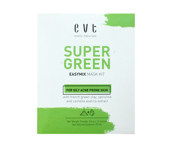 Evete Naturals Super Green Easy-Mix Face Mask Kit