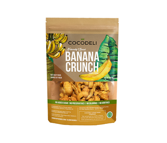 Cocodeli Naturally Sweet Banana Crunch 65 gr