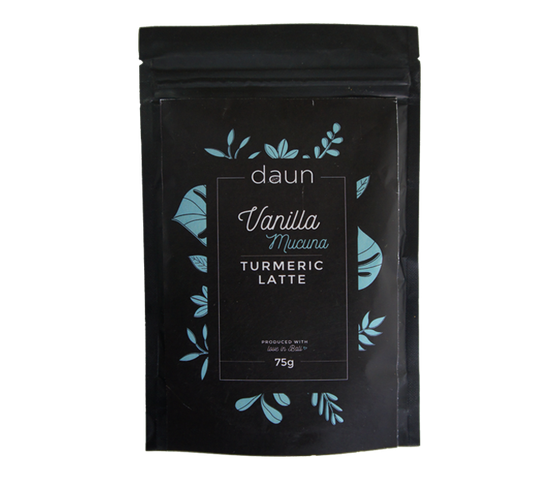Daun Vanilla Mucuna Turmeric Latte