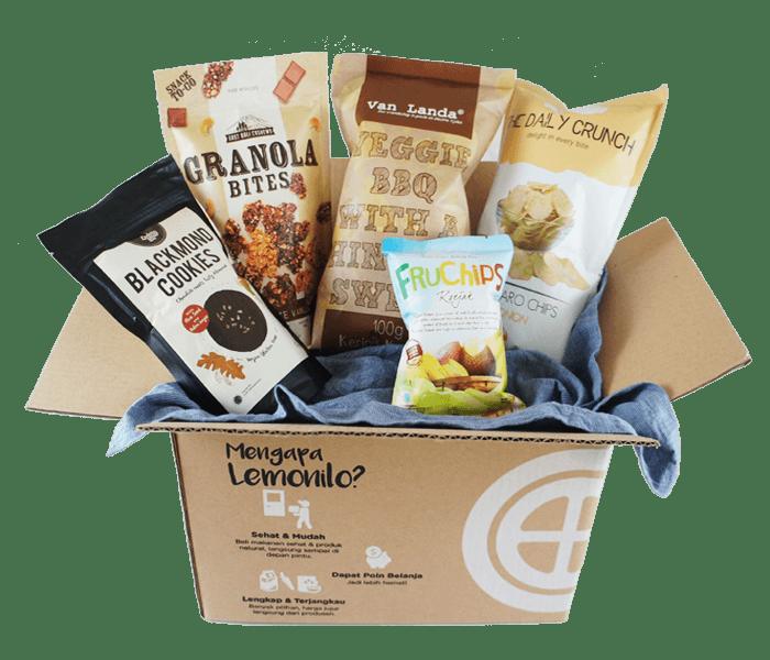 LemoniloBox Paket Cemilan Manis & Asin