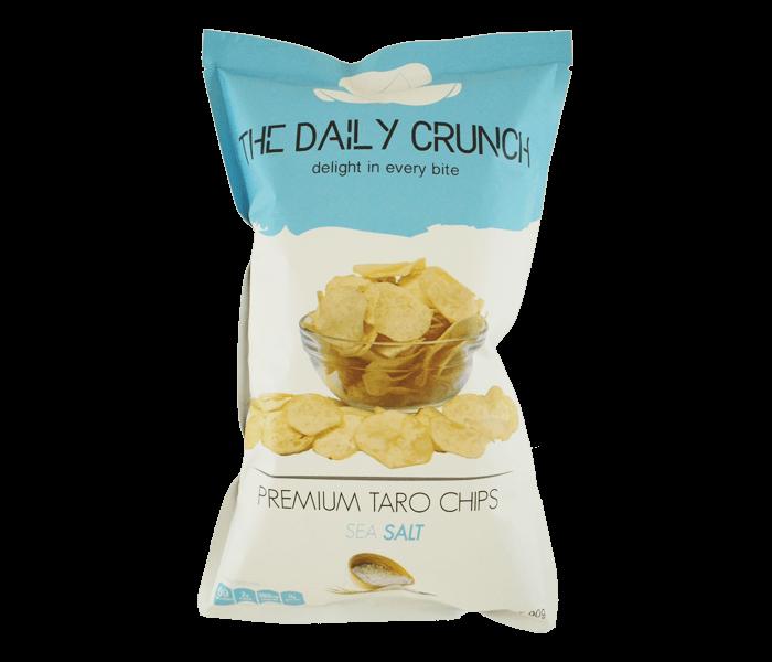 Jual The Daily Crunch Keripik Talas Garam Laut hanya di Lemonilo.com