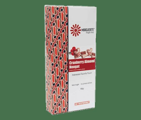 Marguerite Cranberry Almond Nougat 125 gr