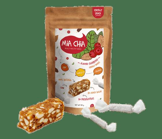 Mia Chia Permen Alami Almond & Cranberry