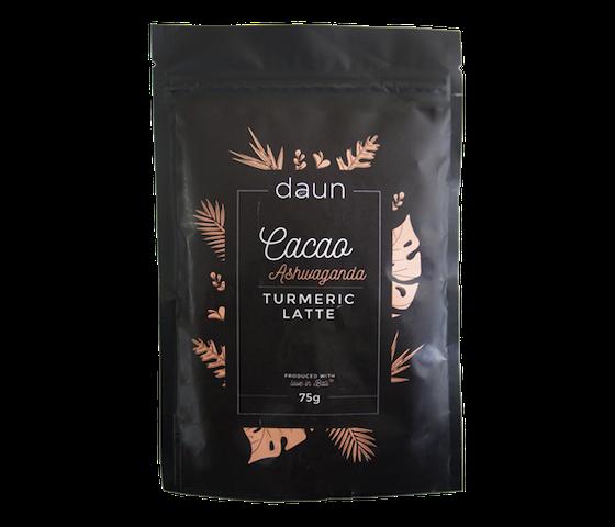 Daun Cacao Ashwaganda Turmeric Latte