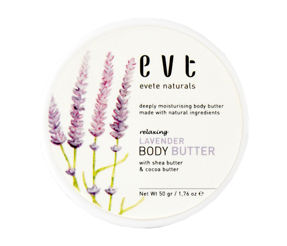 Evete Naturals Relaxing Lavender Body Butter 50 gr