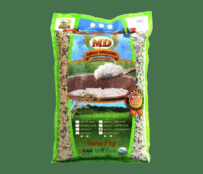 MD Beras Campur Hitam + Cokelat Organik 5 kg