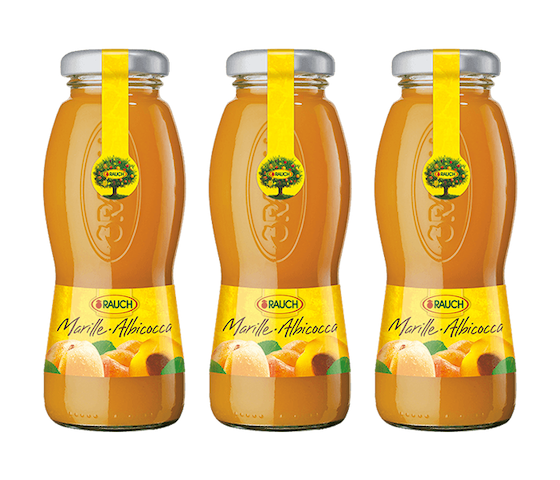 Rauch Apricot Juice 200 ml (Pack of 3)