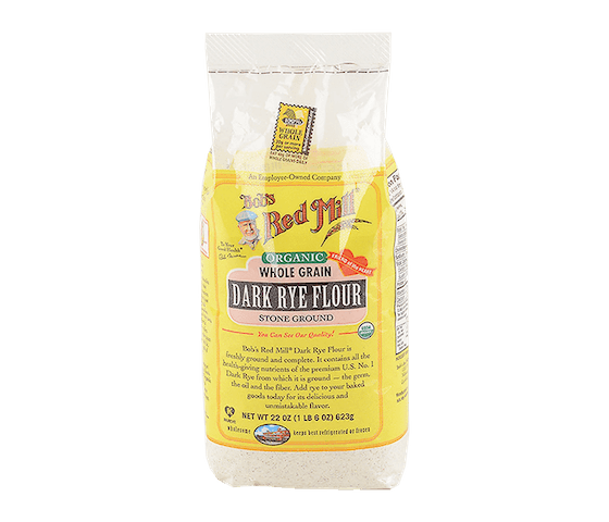 Bob's Red Mill Organic Whole Grain Dark Rye Flour 623 gr