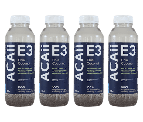 Acaii Chia Coconut Water Pack of 4