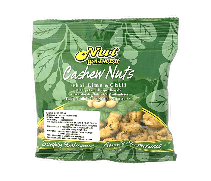Nut Walker Cashew Nuts Thai Lime & Chilli 35 gr