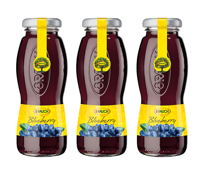 Rauch Blueberry Juice 200 ml (Pack of 3)