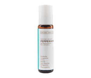 Organic Supply Peppermint Aromatherapy Roller Ball 10 ml