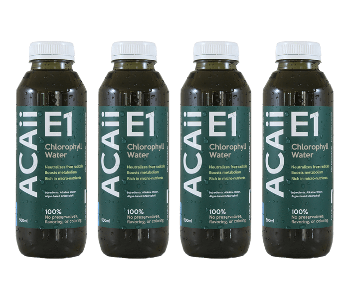 Acaii Chlorophyll Water Pack of 4