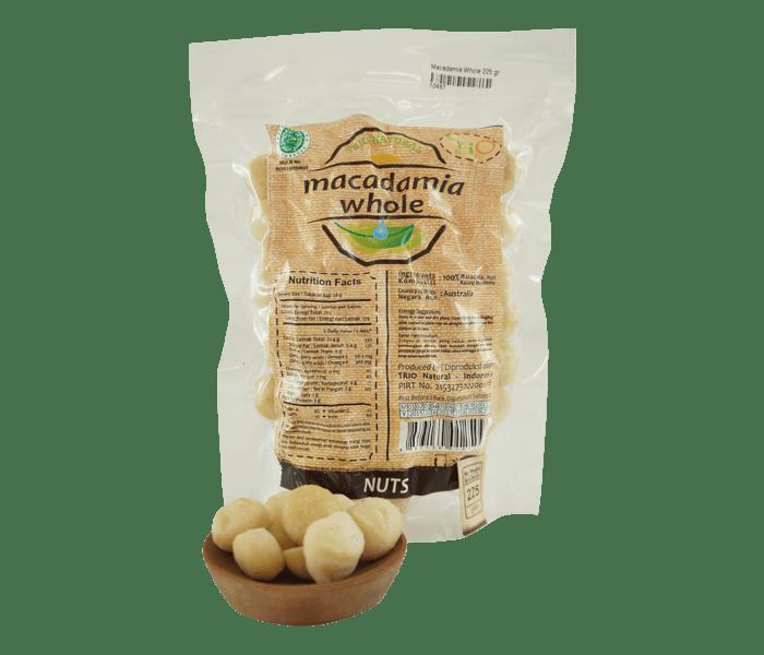 Trio Kacang Macadamia Utuh Alami 225 gr