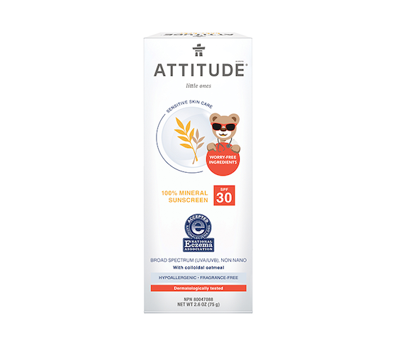 Attitude Sensitive Skin 100% Mineral Sunscreen SPF 30 75 gr