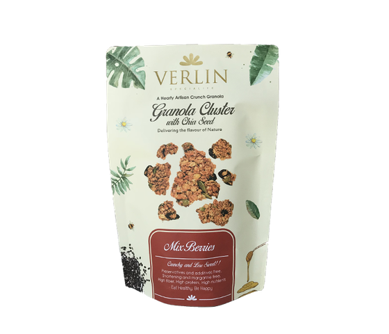Verlin Mixed Berries Granola Cluster with Chia Seed